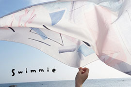 H TOKYOとswimmieのハンカチ展 ‐ 持ち歩けるアート ‐